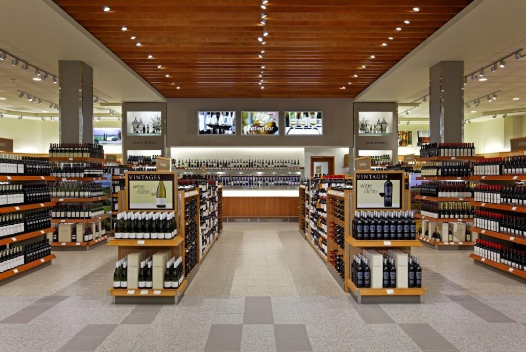 LCBO shoplifting spree - alcohol on store shelves