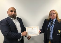 Karen Willis accepts customer service award